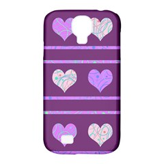 Purple Harts Pattern 2 Samsung Galaxy S4 Classic Hardshell Case (pc+silicone) by Valentinaart