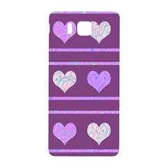Purple Harts Pattern 2 Samsung Galaxy Alpha Hardshell Back Case by Valentinaart