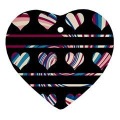 Colorful Harts Pattern Ornament (heart)