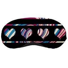 Colorful Harts Pattern Sleeping Masks