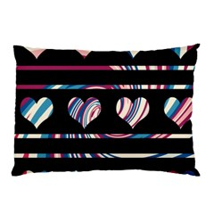 Colorful Harts Pattern Pillow Case (two Sides) by Valentinaart