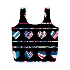 Colorful Harts Pattern Full Print Recycle Bags (m)  by Valentinaart