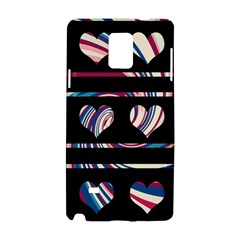Colorful Harts Pattern Samsung Galaxy Note 4 Hardshell Case by Valentinaart