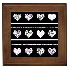 Elegant Harts Pattern Framed Tiles