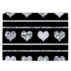 Elegant Harts Pattern Cosmetic Bag (xxl)  by Valentinaart