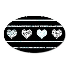 Elegant Harts Pattern Oval Magnet by Valentinaart