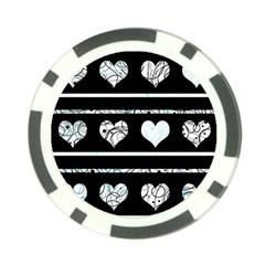 Elegant Harts Pattern Poker Chip Card Guards by Valentinaart