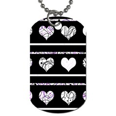 Elegant Harts Pattern Dog Tag (one Side) by Valentinaart