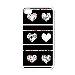 Elegant Harts Pattern Apple Iphone 4 Case (white) by Valentinaart