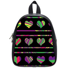Colorful Harts Pattern School Bags (small)  by Valentinaart