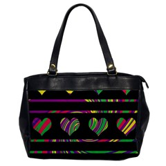 Colorful Harts Pattern Office Handbags by Valentinaart