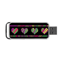 Colorful Harts Pattern Portable Usb Flash (two Sides) by Valentinaart