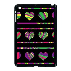 Colorful Harts Pattern Apple Ipad Mini Case (black) by Valentinaart