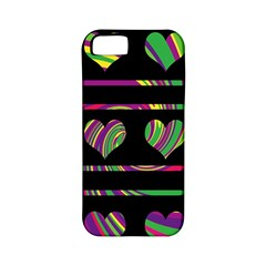 Colorful Harts Pattern Apple Iphone 5 Classic Hardshell Case (pc+silicone) by Valentinaart