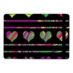 Colorful Harts Pattern Samsung Galaxy Tab Pro 10 1  Flip Case by Valentinaart