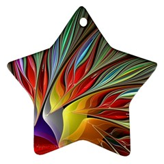 Fractal Bird Of Paradise Ornament (star) by WolfepawFractals