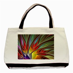 Fractal Bird Of Paradise Basic Tote Bag (two Sides) by WolfepawFractals