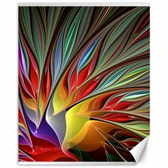 Fractal Bird Of Paradise Canvas 11  X 14  by WolfepawFractals