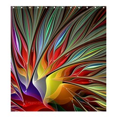 Fractal Bird Of Paradise Shower Curtain 66  X 72  (large) by WolfepawFractals