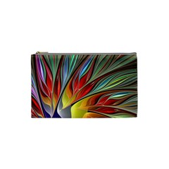 Fractal Bird Of Paradise Cosmetic Bag (small) by WolfepawFractals