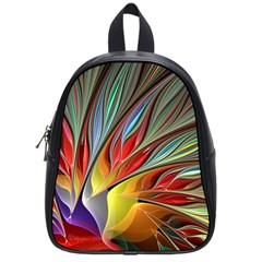 Fractal Bird Of Paradise School Bag (small) by WolfepawFractals