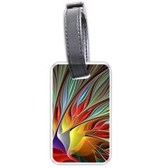 Fractal Bird Of Paradise Luggage Tag (one Side) by WolfepawFractals