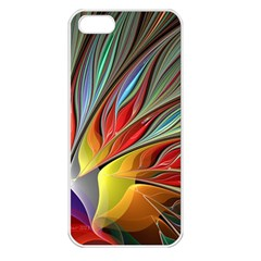 Fractal Bird Of Paradise Apple Iphone 5 Seamless Case (white) by WolfepawFractals