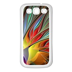 Fractal Bird Of Paradise Samsung Galaxy S3 Back Case (white) by WolfepawFractals