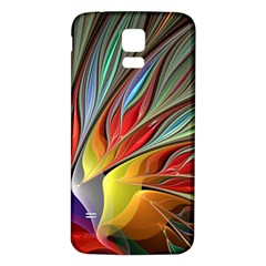 Fractal Bird Of Paradise Samsung Galaxy S5 Back Case (white) by WolfepawFractals