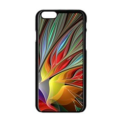 Fractal Bird Of Paradise Apple Iphone 6/6s Black Enamel Case by WolfepawFractals