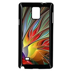 Fractal Bird Of Paradise Samsung Galaxy Note 4 Case (black) by WolfepawFractals