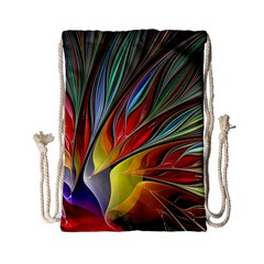 Fractal Bird Of Paradise Drawstring Bag (small) by WolfepawFractals