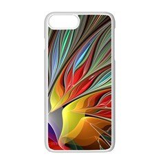 Fractal Bird Of Paradise Apple Iphone 7 Plus White Seamless Case by WolfepawFractals