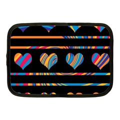 Colorful Harts Pattern Netbook Case (medium)  by Valentinaart
