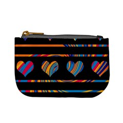 Colorful Harts Pattern Mini Coin Purses
