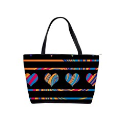 Colorful Harts Pattern Shoulder Handbags by Valentinaart