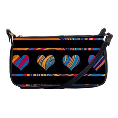Colorful Harts Pattern Shoulder Clutch Bags by Valentinaart