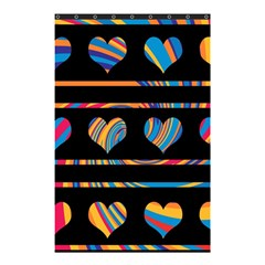 Colorful Harts Pattern Shower Curtain 48  X 72  (small)  by Valentinaart
