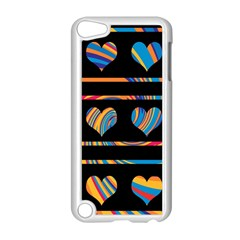 Colorful Harts Pattern Apple Ipod Touch 5 Case (white) by Valentinaart
