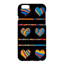 Colorful Harts Pattern Apple Iphone 6 Plus/6s Plus Hardshell Case by Valentinaart