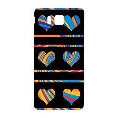 Colorful Harts Pattern Samsung Galaxy Alpha Hardshell Back Case