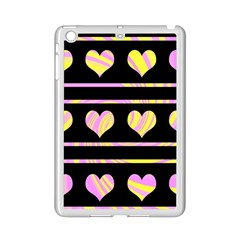 Pink And Yellow Harts Pattern Ipad Mini 2 Enamel Coated Cases by Valentinaart
