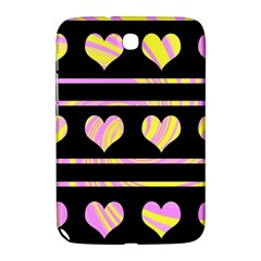Pink And Yellow Harts Pattern Samsung Galaxy Note 8 0 N5100 Hardshell Case  by Valentinaart