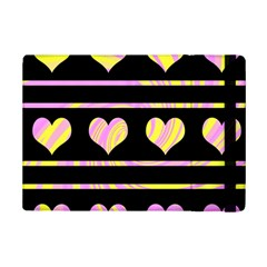 Pink And Yellow Harts Pattern Ipad Mini 2 Flip Cases by Valentinaart