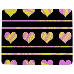Pink And Yellow Harts Pattern Jigsaw Puzzle Photo Stand (rectangular) by Valentinaart