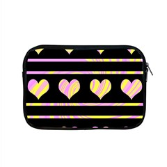 Pink And Yellow Harts Pattern Apple Macbook Pro 15  Zipper Case