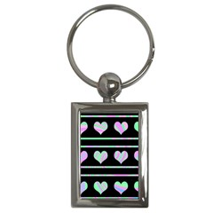Pastel Harts Pattern Key Chains (rectangle)  by Valentinaart