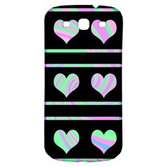 Pastel Harts Pattern Samsung Galaxy S3 S Iii Classic Hardshell Back Case by Valentinaart