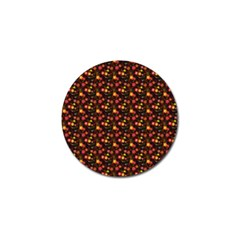 Exotic Colorful Flower Pattern Golf Ball Marker