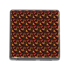Exotic Colorful Flower Pattern Memory Card Reader (square) by Brittlevirginclothing